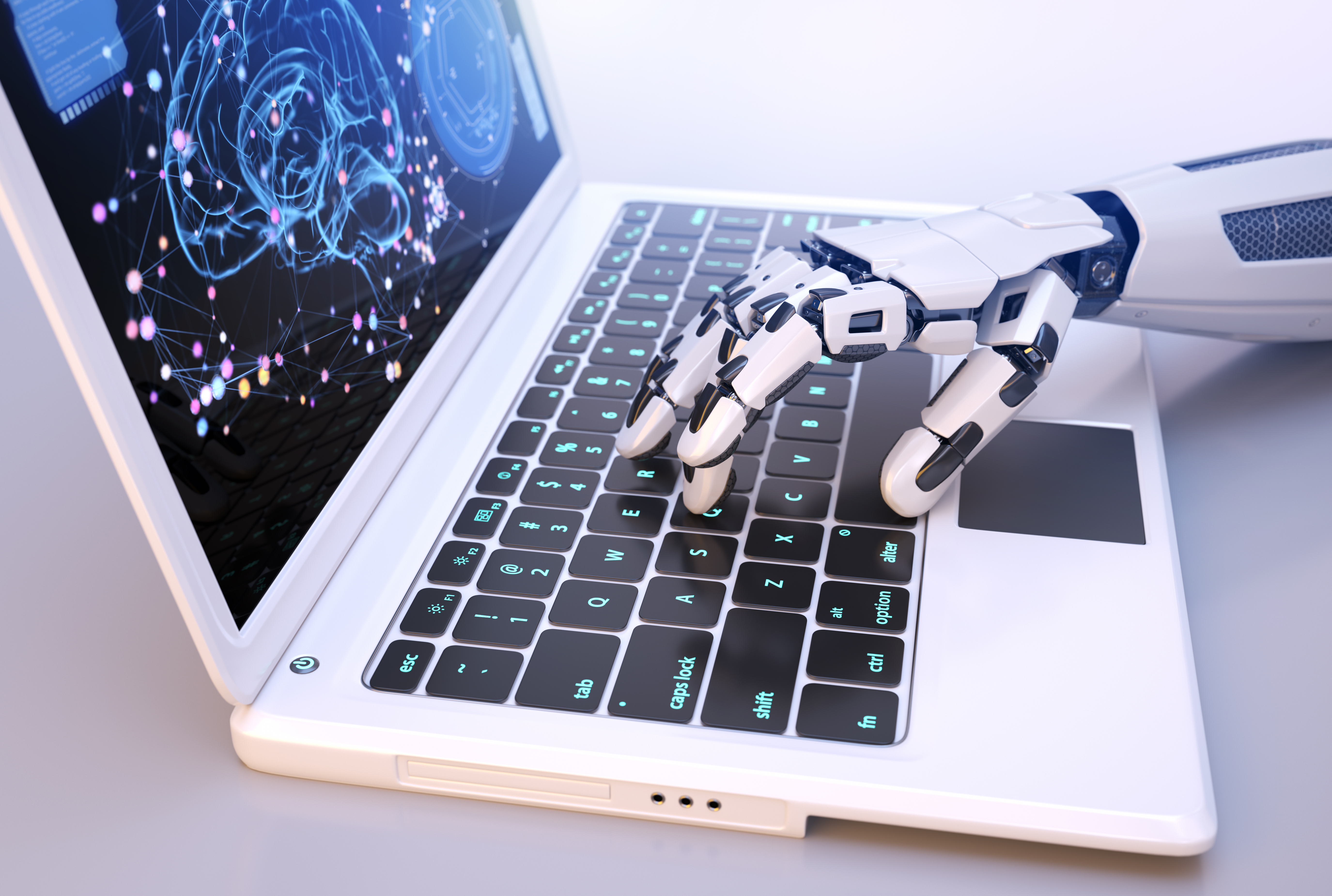 robots-hand-typing-on-keyboard-W8CUP4S